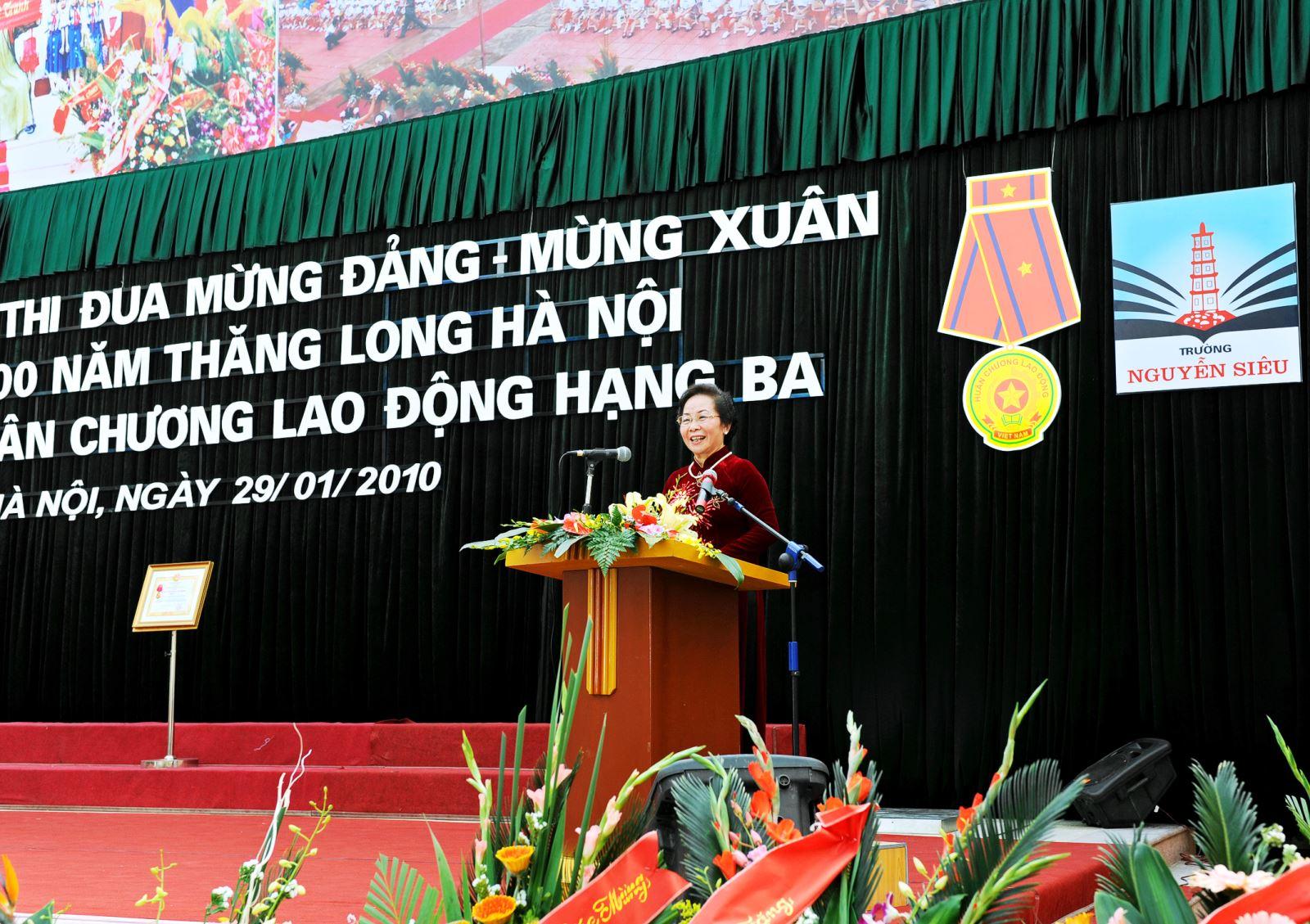 Phát biểu của nguyên Phó Chủ tịch nước Nguyễn Thị Doan